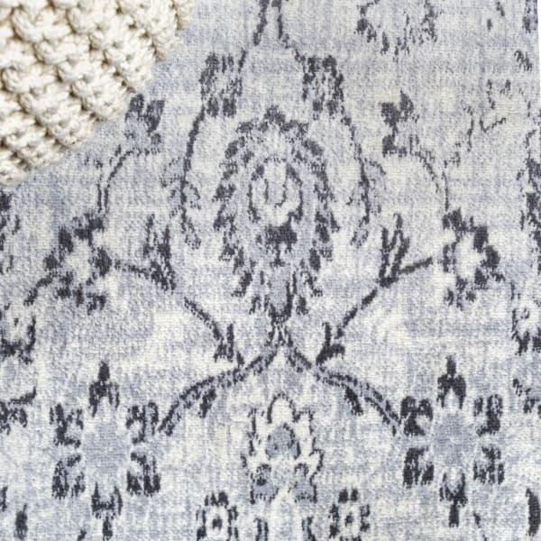 Lotus Modern Persian Floral Gray 2.25' x 8' Runner Rug