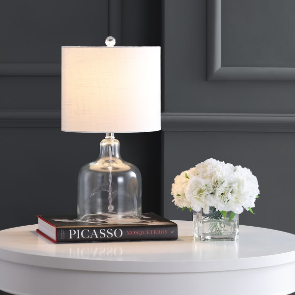 Glass Bell Table Lamp, Clear