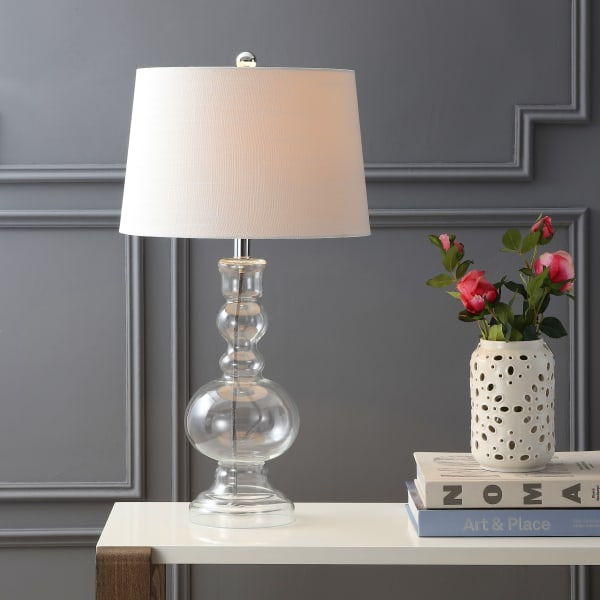 Glass Table Lamp, Clear (Set of 2)