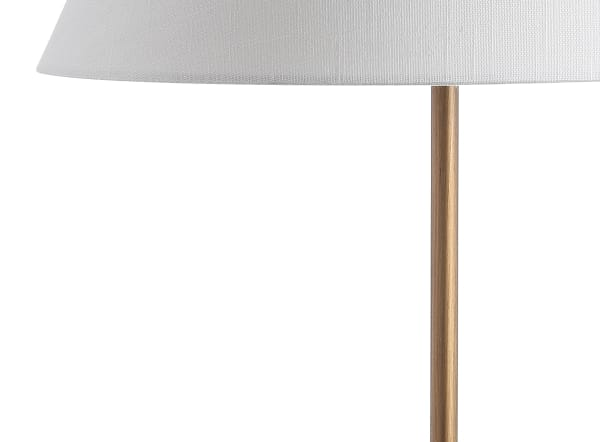 Minimalist Resin/Metal Table Lamp, Gold/White