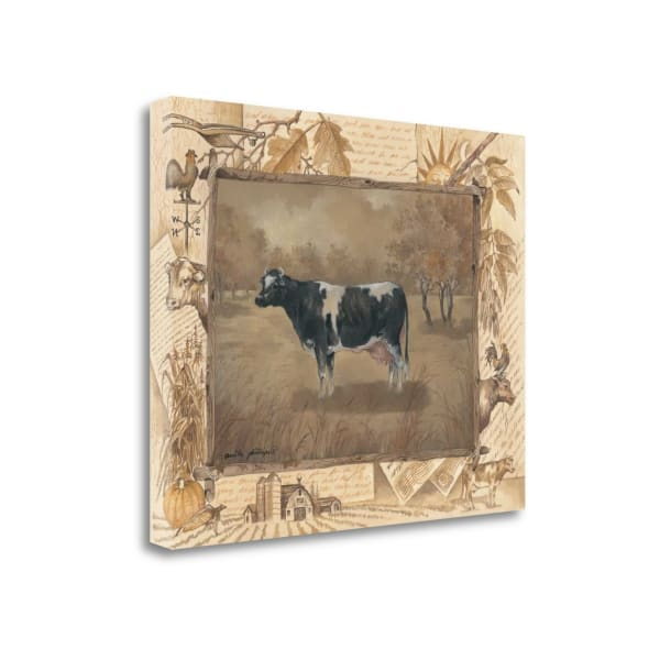 Cow By Anita Phillips Wrapped Canvas Wall Art