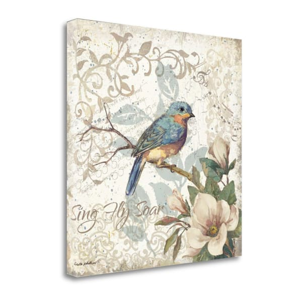 Sing - Fly - Soar By Anita Phillips Wrapped Canvas Wall Art