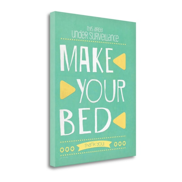Make Your Bed By Jo Moulton Wrapped Canvas Wall Art