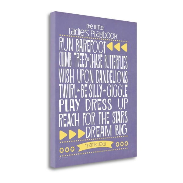 Ladies Playbook By Jo Moulton Wrapped Canvas Wall Art
