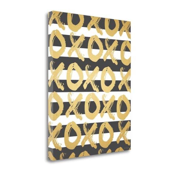 Faux Gold Xoxo By Jo Moulton Wrapped Canvas Wall Art