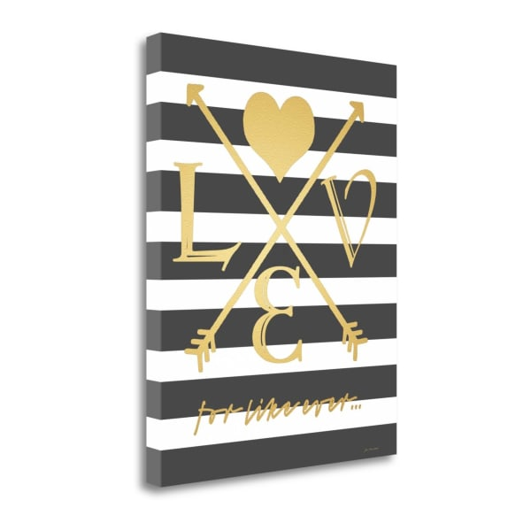 Faux Gold For Like Ever By Jo Moulton Wrapped Canvas Wall Art