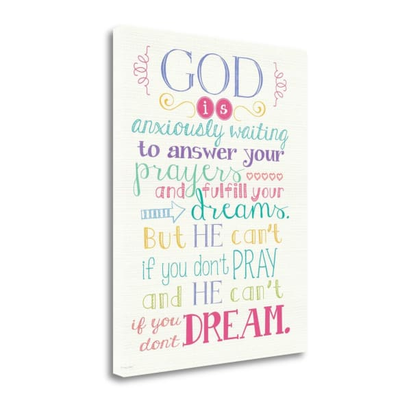 Pray And Dream By Jo Moulton Wrapped Canvas Wall Art