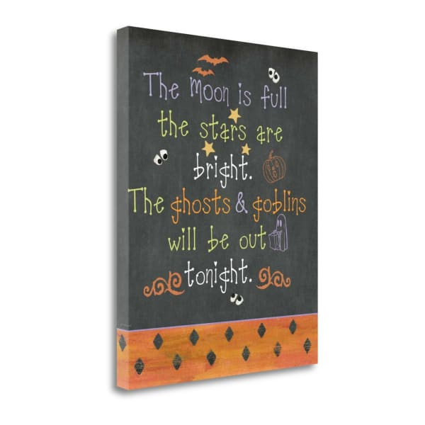 Ghosts And Goblins By Jo Moulton Wrapped Canvas Wall Art