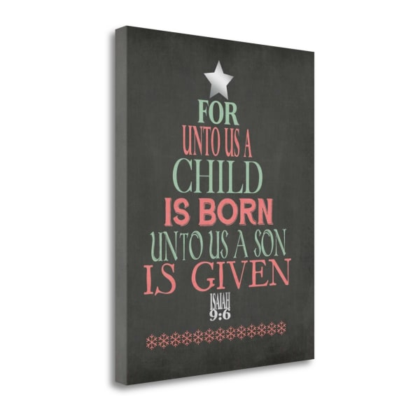 Son Is Given By Jo Moulton Wrapped Canvas Wall Art