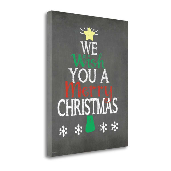 We Wish You By Jo Moulton Wrapped Canvas Wall Art