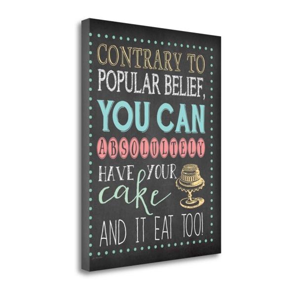 Cake By Jo Moulton Wrapped Canvas Wall Art