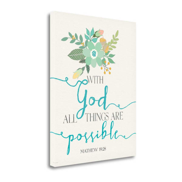 Possible By Jo Moulton Wrapped Canvas Wall Art