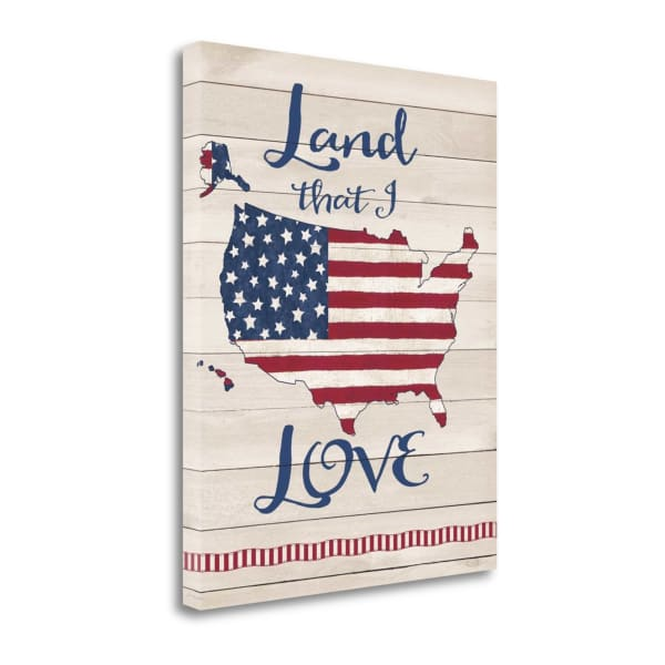 Land I Love By Jo Moulton Wrapped Canvas Wall Art