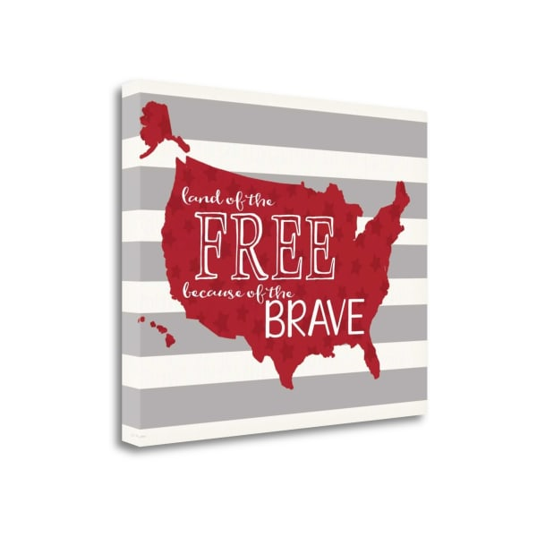 Map Of The Free By Jo Moulton Wrapped Canvas Wall Art