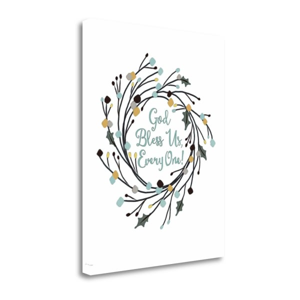 God Bless Us Everyone By Jo Moulton Wrapped Canvas Wall Art