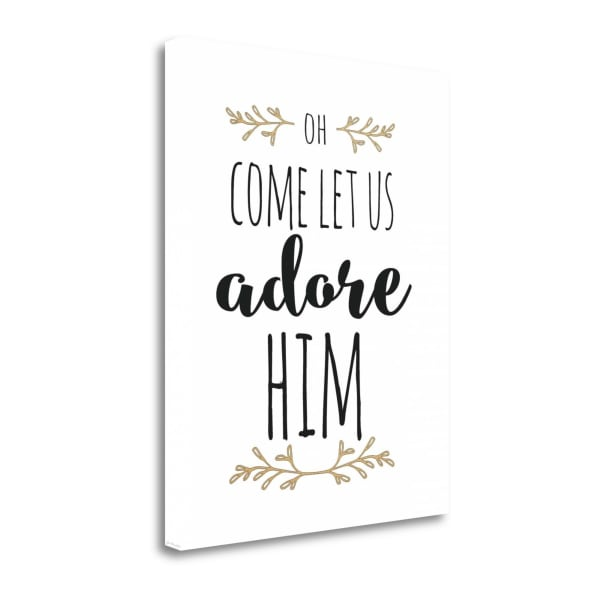 Oh Adore Him By Jo Moulton Wrapped Canvas Wall Art
