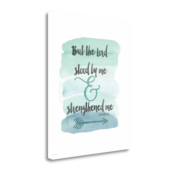 Strengthened Me By Jo Moulton Wrapped Canvas Wall Art