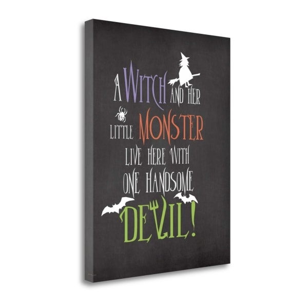 Witch Monster By Jo Moulton Wrapped Canvas Wall Art