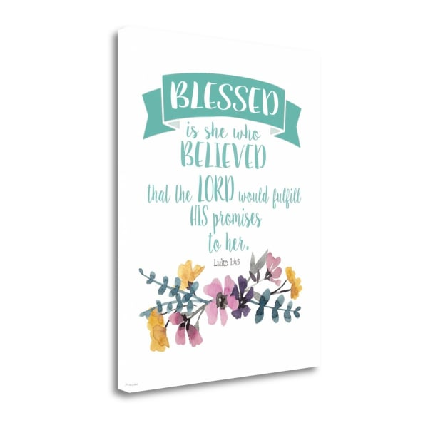 Blessed Is She By Jo Moulton Wrapped  Canvas Wall Art
