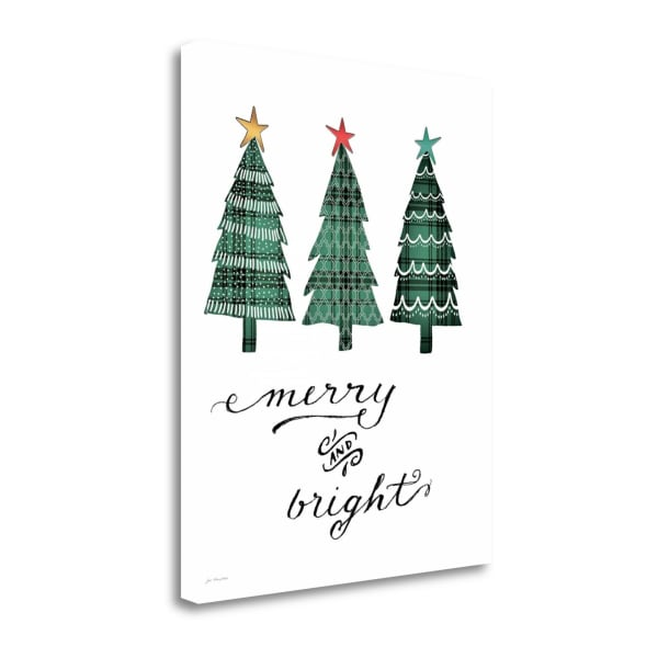 Merry And Bright By Jo Moulton Wrapped Canvas Wall Art