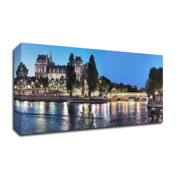 Nuit d' ete sur la Seine No. 1 by Alan Blaustein Wrapped Canvas Wall Art