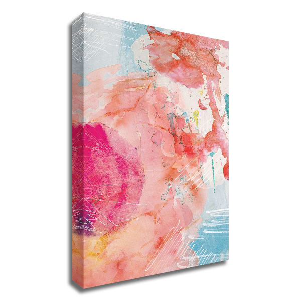 Abstract Turquoise Pink No. 1 by Louis Duncan-He Wrapped Canvas Wall Art