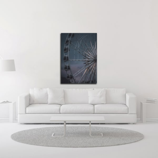 The Wheel Is Turning by Design Fabrikken Wrapped Canvas Wall Art
