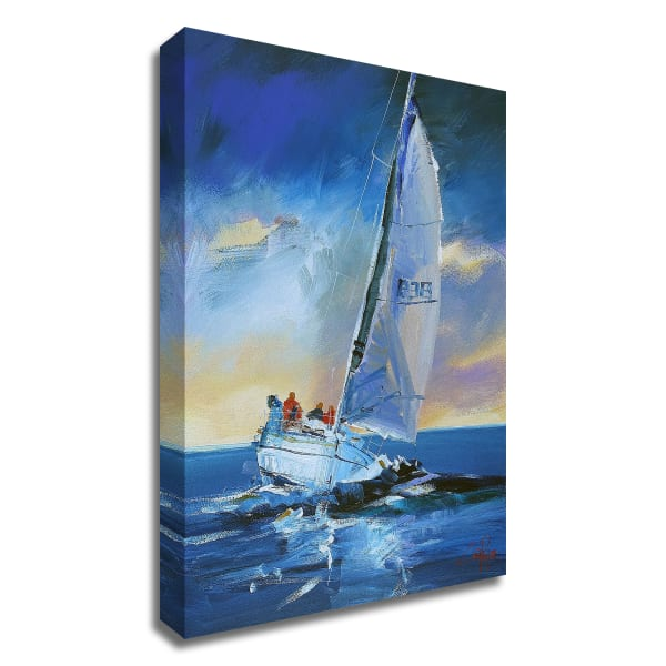 Night Sail by Craig Trewin Penny Wrapped Canvas Wall Art