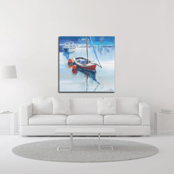On the Creek by Craig Trewin Penny Wrapped Canvas Wall Art