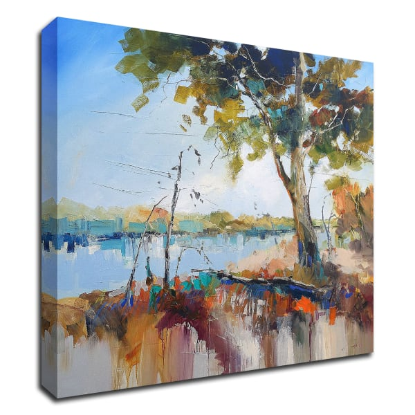 On the Murray by Craig Trewin Penny Wrapped Canvas Wall Art