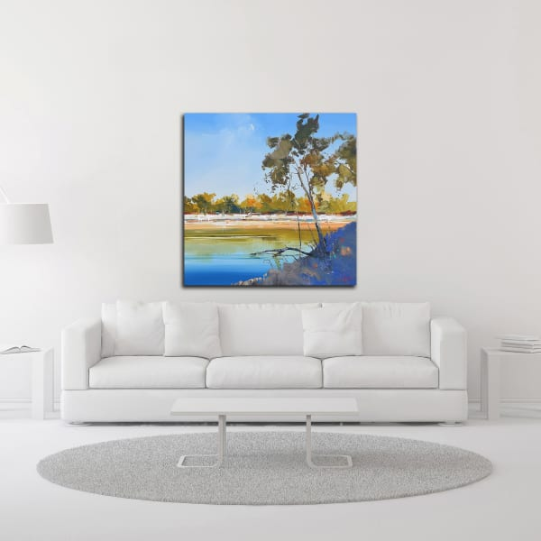 River Bank by Craig Trewin Penny Wrapped Canvas Wall Art