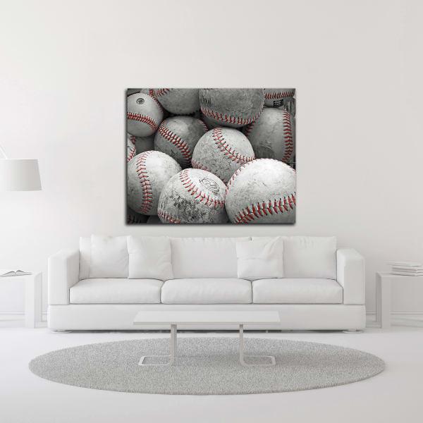 Vintage Baseballs by Brooke T. Ryan Wrapped Canvas Wall Art