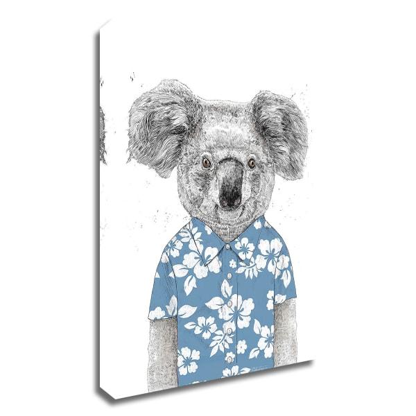 Summer Koala by Balazs Solti Wrapped Canvas Wall Art