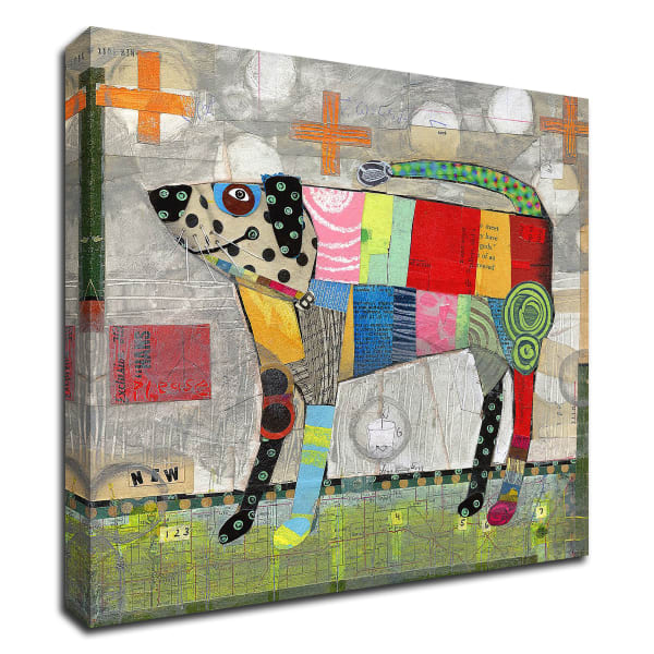 Coat of Many Colors by Judy Verhoeven Wrapped Canvas Wall Art