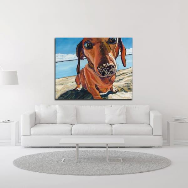 Sand Dog by Kathryn Wronski Wrapped Canvas Wall Art