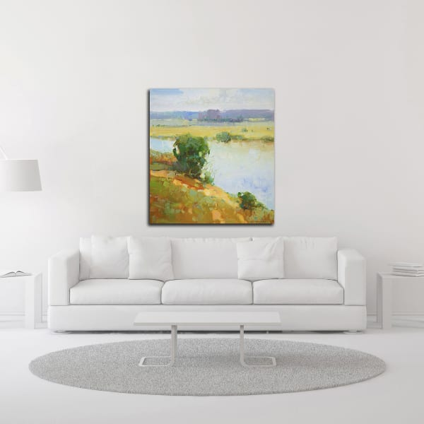 Riverside by Vahe Yeremyan Wrapped Canvas Wall Art