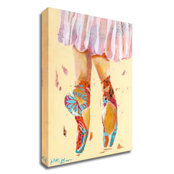 Ballet Slippers by Pamela K. Beer Wrapped Canvas Wall Art