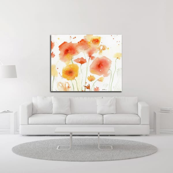 Orange Yellow by Sheila Golden Wrapped Canvas Wall Art