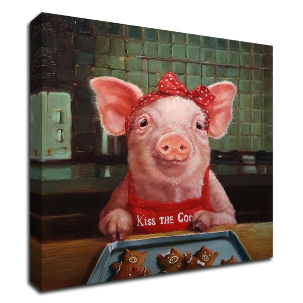 Gingerbread Pigs by Lucia Heffernan Wrapped Canvas Wall Art