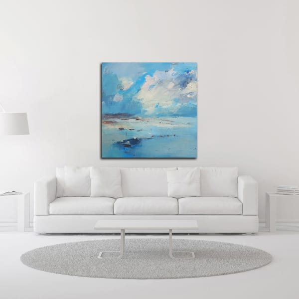 Low Tide by Andrew Kinmont Wrapped Canvas Wall Art