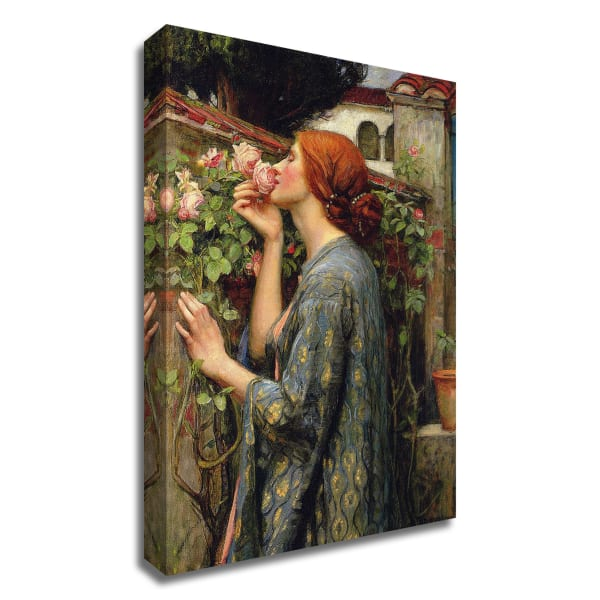The Soul of the Rose by John William Water house Wrapped Canvas Wall Art