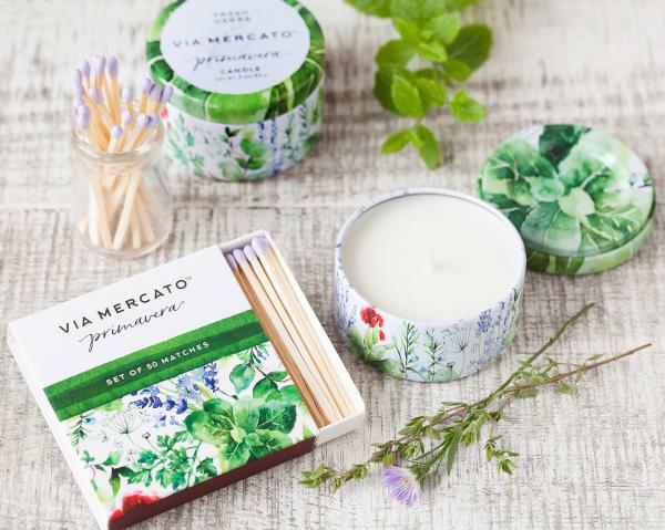 Via Mercato Fresh Herbs Scented Matches