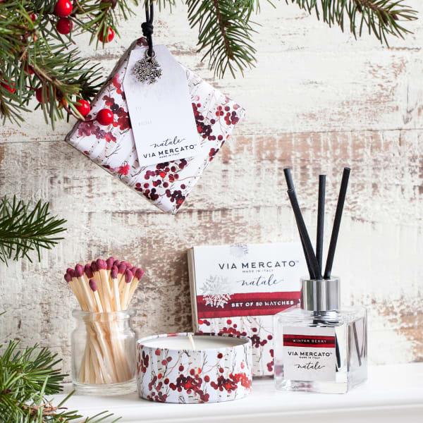 Via Mercato Natale Petite Winter Berry Reed Diffuser