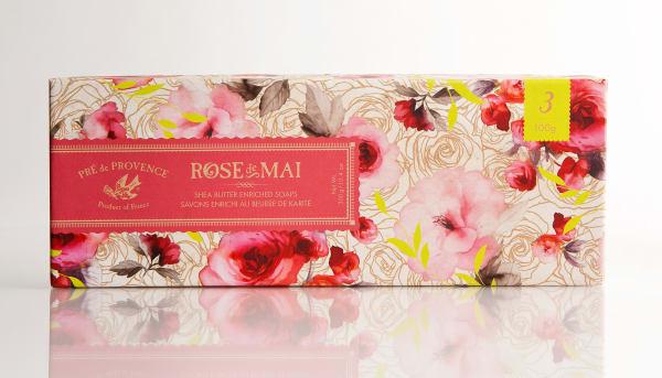 Rose De Mai Soap 3 Piece Gift Box