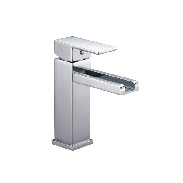 Balance Chome Brass Single Handle 6 Inch Bathroom Vessel Faucet