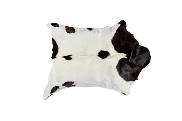 Calfskin White And Chocolate 2' x 3' Area Rug
