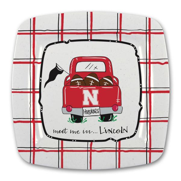 Nebraska Melamine Truck Outdoor Platter