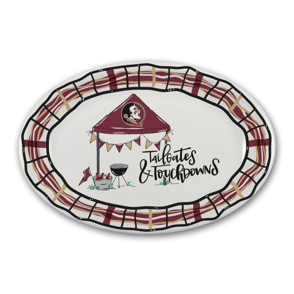 Florida State Tailgates and Touchdowns Melamine Platter