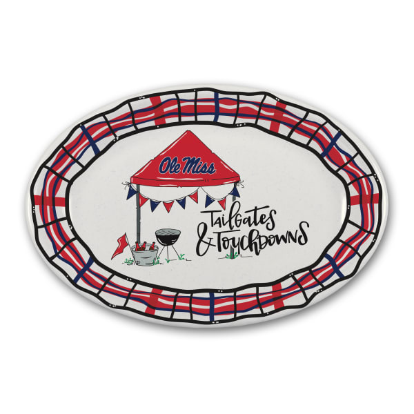 Ole Miss Tailgates and Touchdowns Melamine Platter
