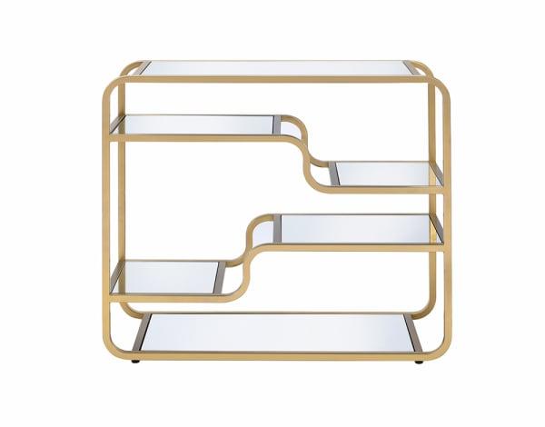 Gold Modern yet Retro Glass Bar Table